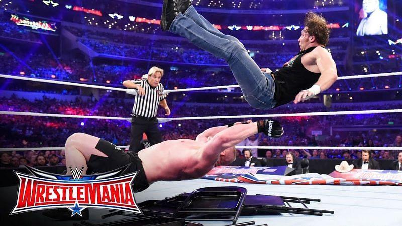 Brock Lesnar and Dean Ambrose