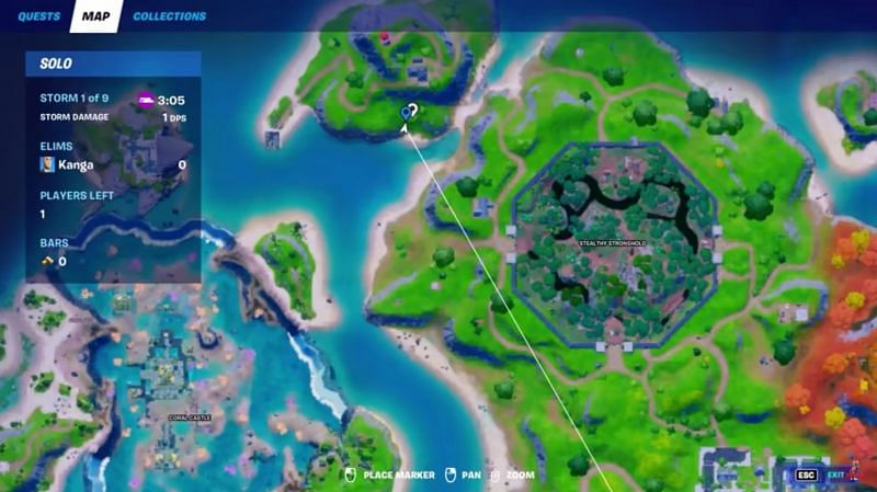Players can come across another set of eggs on this island which is adjacent to both Coral Castle and Stealthy Stronghold (Image via Kanga, YouTube)