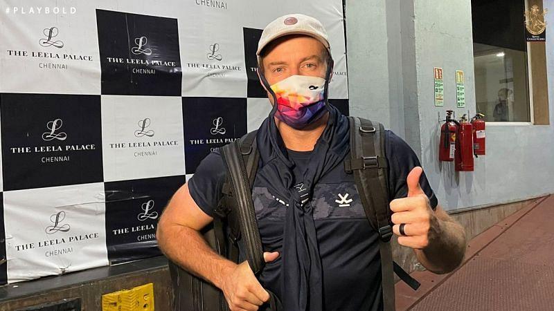 AB de Villiers lands in Chennai