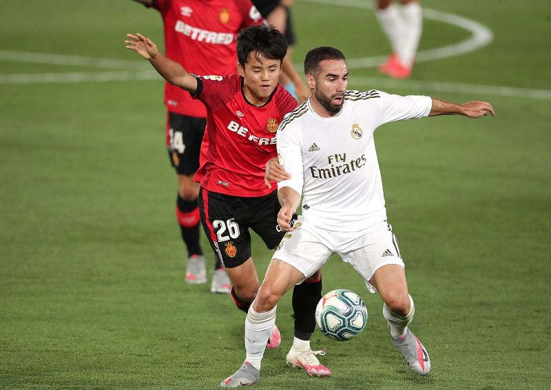 Carvajal in action for Real Madrid