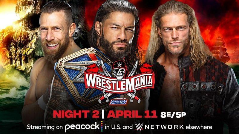 Match graphic for Roman Reigns vs Edge vs Daniel Bryan
