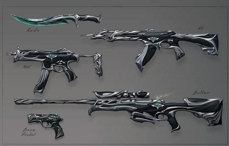 Concept Art for the Forsaken skins in Valorant (Image via Riot Games)