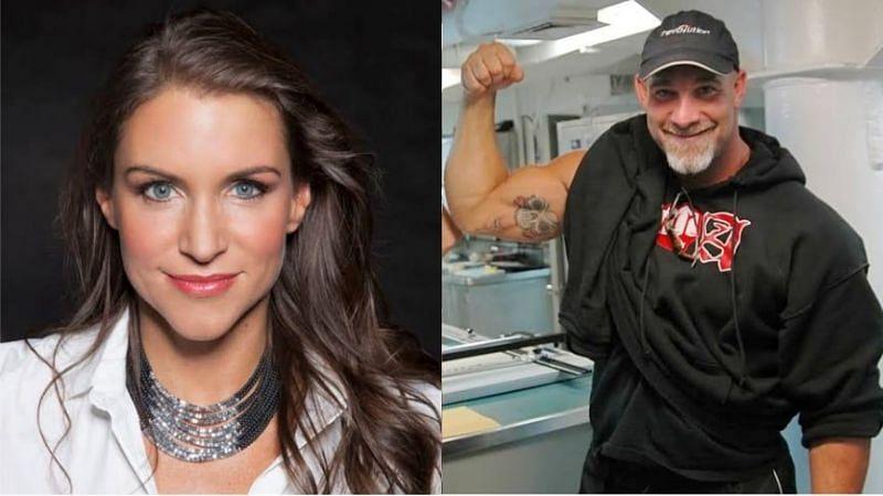 Stephanie McMahon and Goldberg