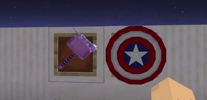 Shown: A modder showcasing his Mjolnir and Captain America shield mod (Image via u/Ambiguous_Chameleon on Reddit)