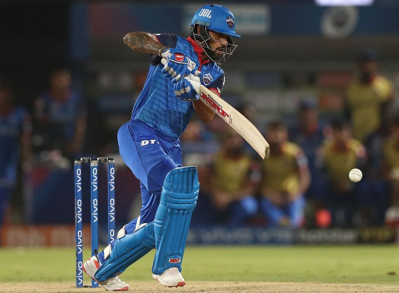 Shikhar Dhawan in action for the Delhi Capitals in the IPL.