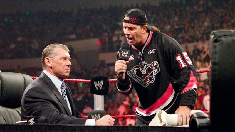 Bret Hart and Vince McMahon on RAW (Credit: WWE)
