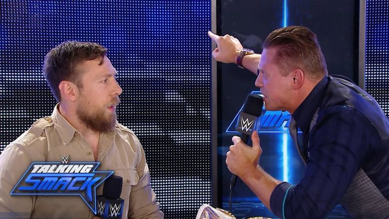 The Miz and Daniel Bryan during an edition of Talking Smack