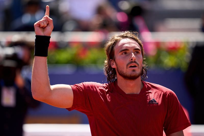 Stefanos Tsitsipas, after clinching his place in the final of the 2021 Barcelona Open