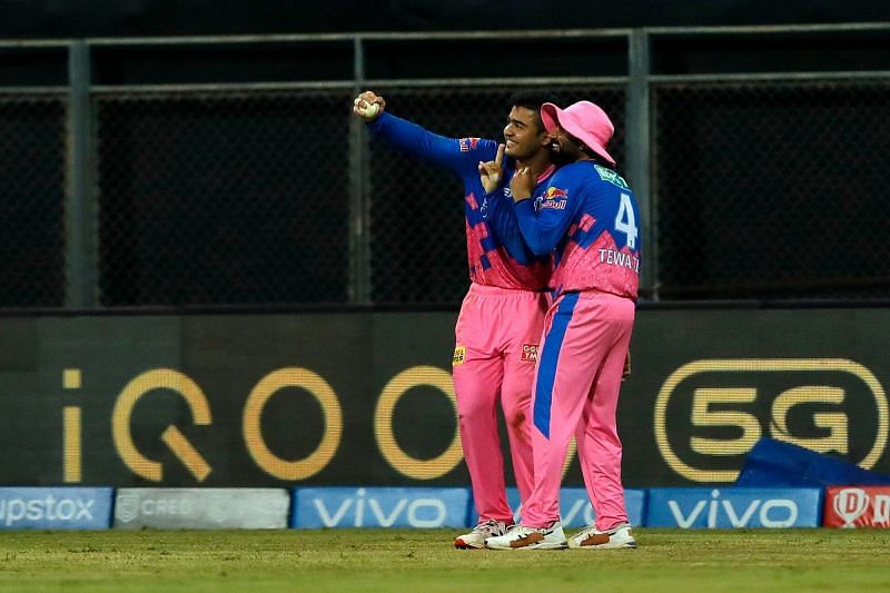 Riyan Parag and Rahul Tewatia wowed the fans with their unique celebration in IPL 2021 (Image Courtesy: IPLT20.com)