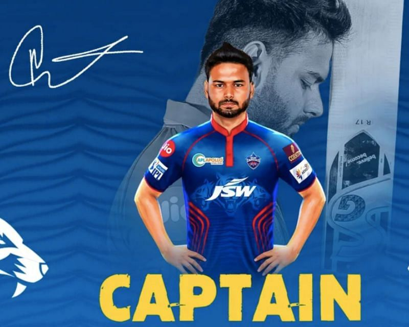 Rishabh Pant was appointed DC captain replacing an injured Shreyas Iyer
