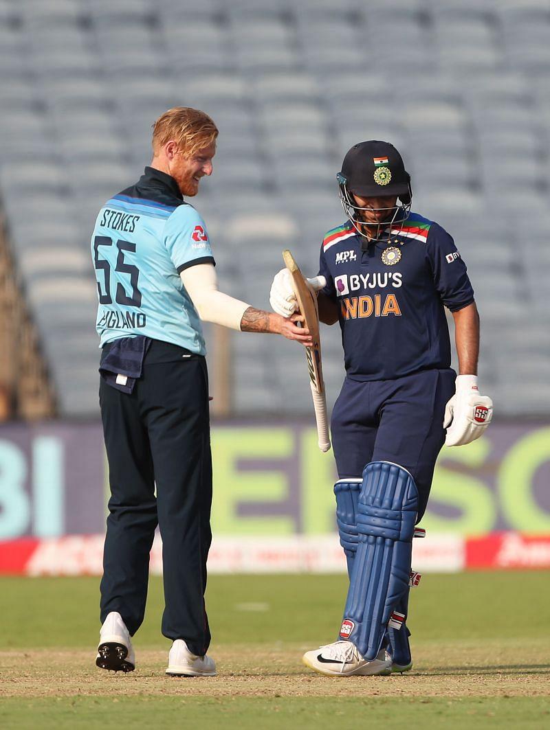 Ben Stokes checks Shardul Thakur