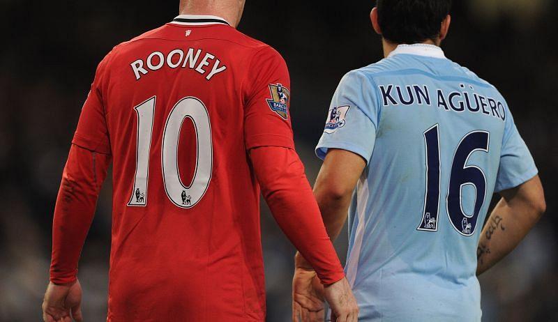 Wayne Rooney and Sergio Aguero