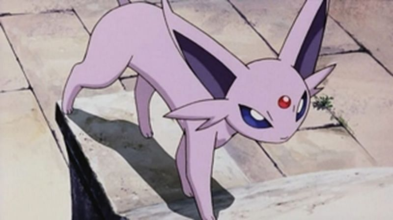 Espeon in the anime (Image via The Pokemon Company)