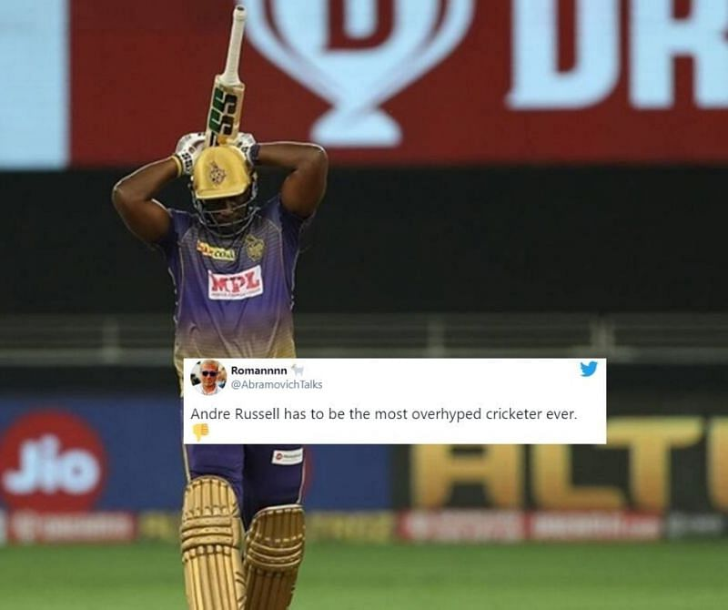 Andre Russell continues his lean patch of form in the IPL