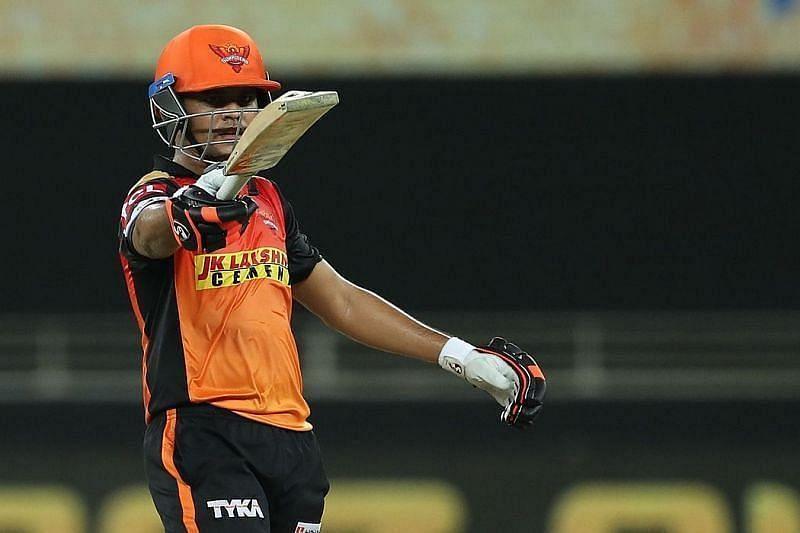 Priyam Garg averaged just 14.77 for SRH in IPL 2020 [P/C: iplt20.com]