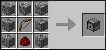Recipe for a dispenser in Minecraft