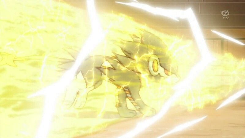 Pokemon using Wild Charge in the anime (Image via The Pokemon Company)