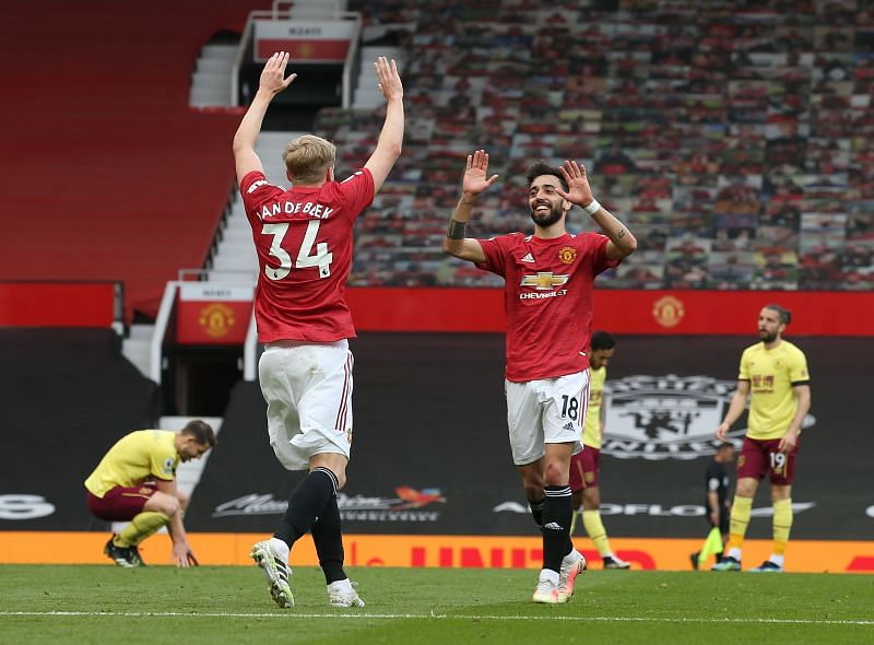 Manchester United defeated Burnley 3-1 in the Premier League