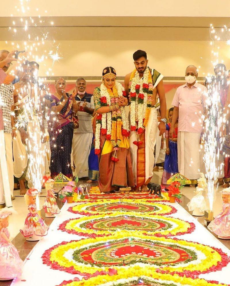 Vijay Shankar's marriage rituals