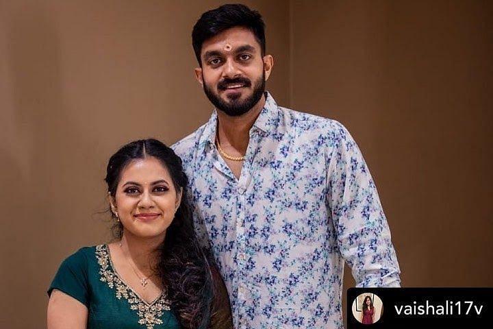Vijay Shankar's Marriage Pics with Vaishali Visweswaran