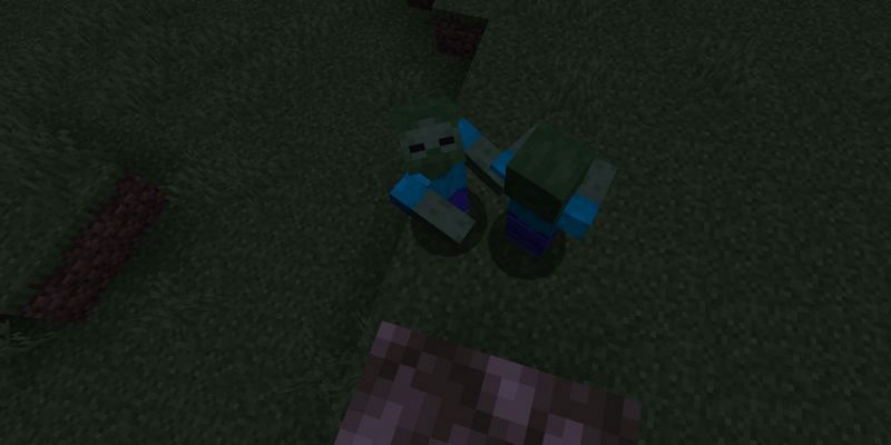 Shown: A player building up to avoid damage (Image via Minecraft)