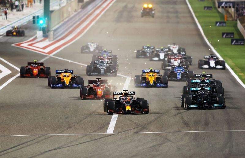 Max Verstappen started from pole at the Bahrain Grand Prix. Photo: Bryn Lennon/Getty Images.