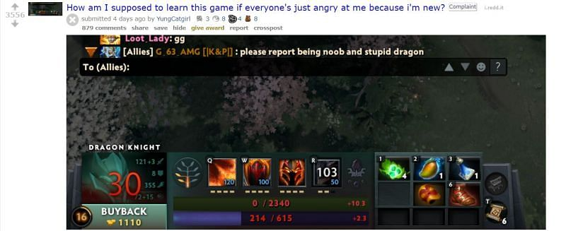 Dota players can often be very toxic