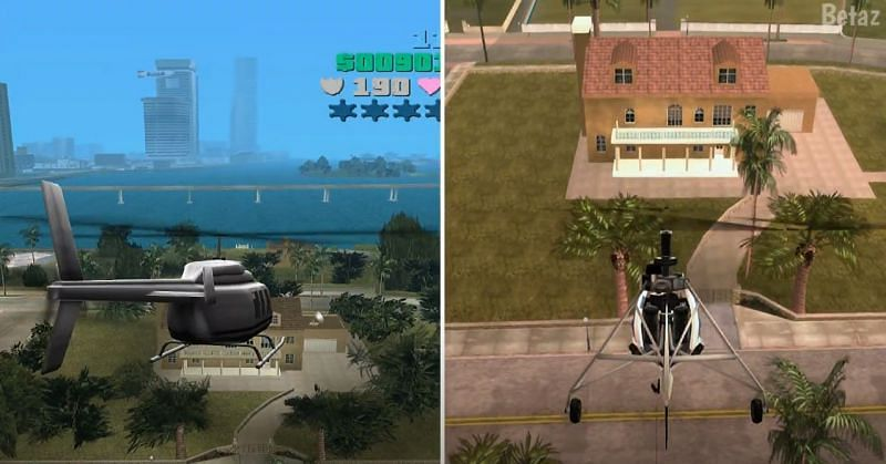 Both Vice City Stories and GTA Vice City are present on the PS2 (Image via Betaz, YouTube)