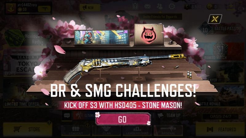 A New Seasonal Challenge SMG Supremacy is now available COD Mobile (Image via Activision)