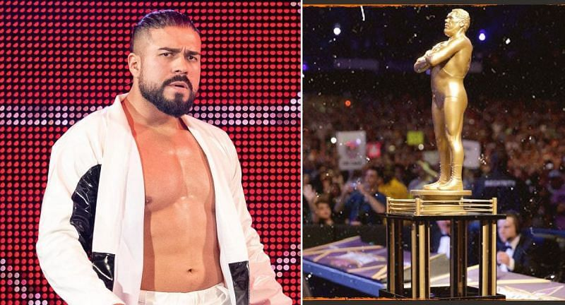 Andrade; Andre The Giant Memorial Battle Royal trophy