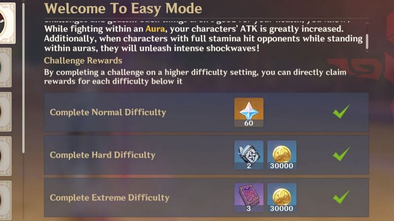Contending Tides reward for every difficulty