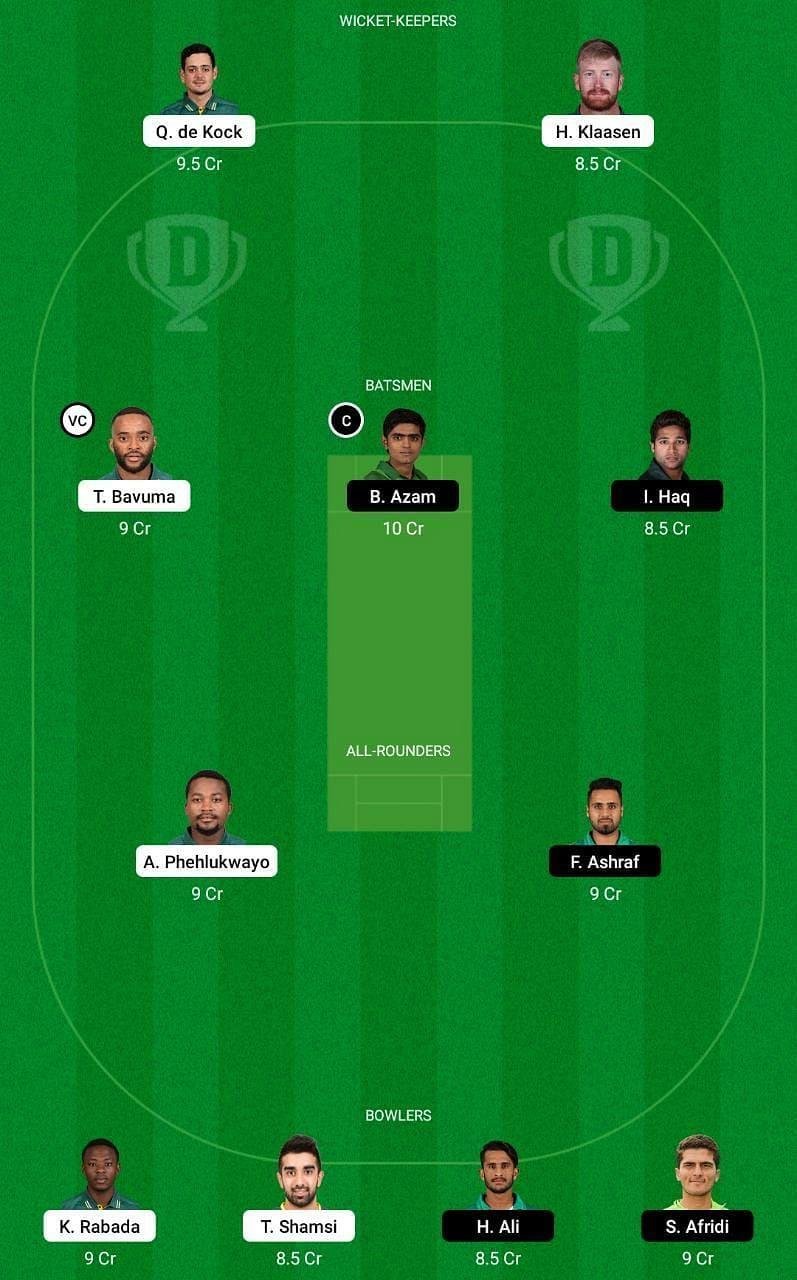 SA vs PAK 1st ODI Dream11 Tips