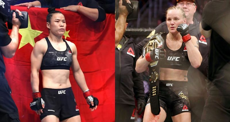 Weili Zhang (Left) and Valentina Shevchenko (Right)