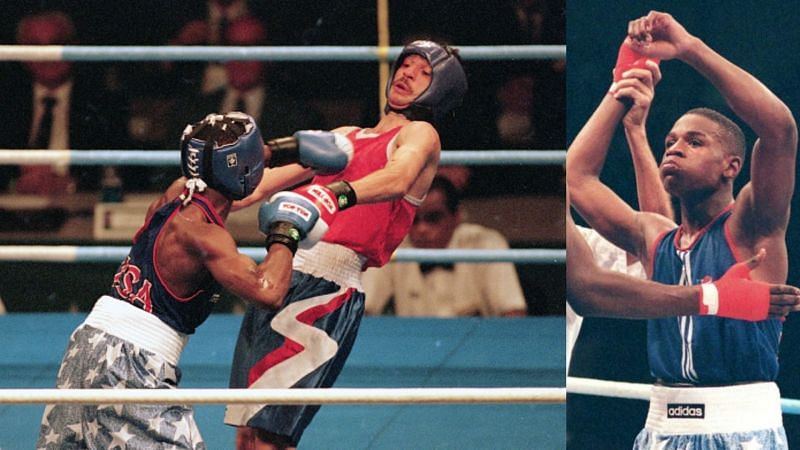 Floyd Mayweather was inches away from capturing the silver medal in the 1996 Olympics