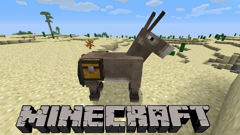 A donkey in Minecraft (Image via achievedgaming)