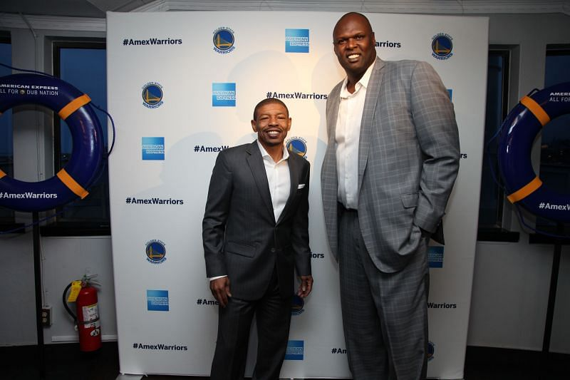 Muggsy Bogues (left) is the shortest player to ever play in the NBA.