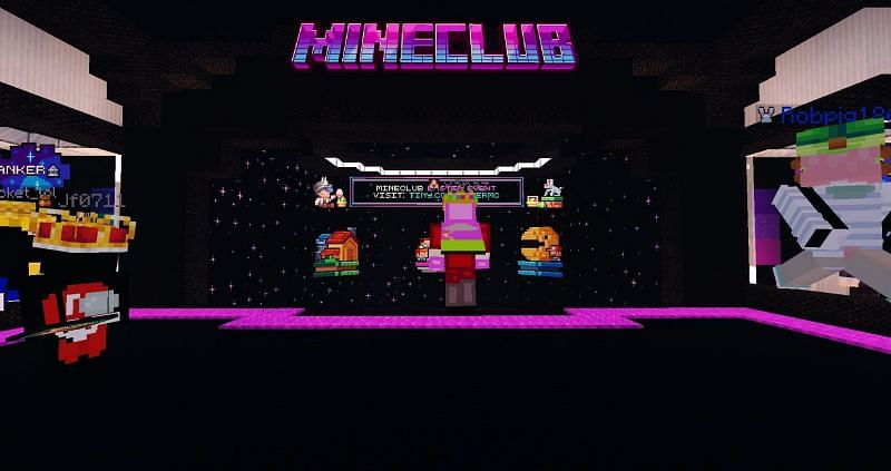 Mineclub is a heavily custom Minecraft social/minigames server