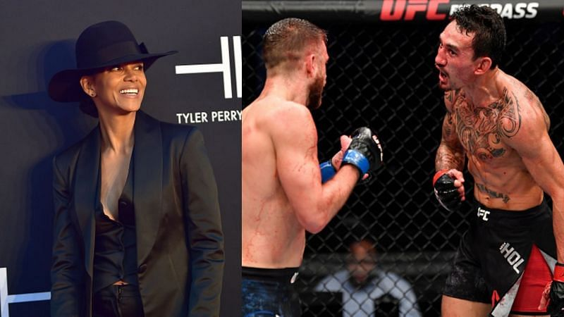 Halle Berry (left) and Max Holloway (right)
