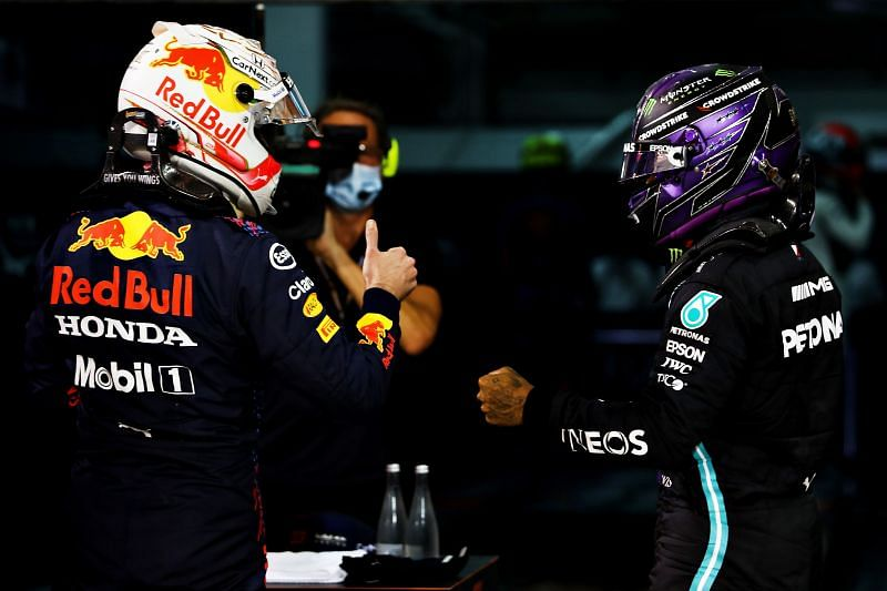 Nelson Piquet reckons Lewis Hamilton would lose out to Max Verstappen in the same car. Photo: Mark Thompson/Getty Images.