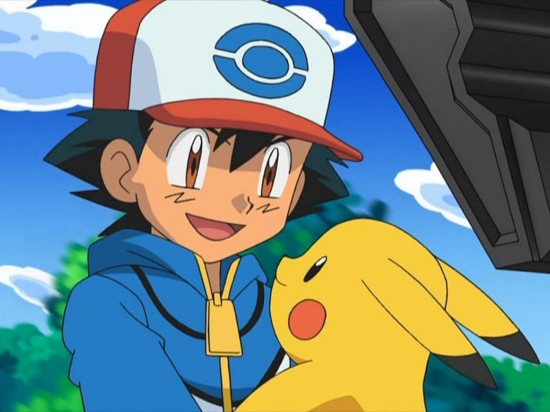 Ash with Pikachu in the anime (Image via The Pokemon Company)