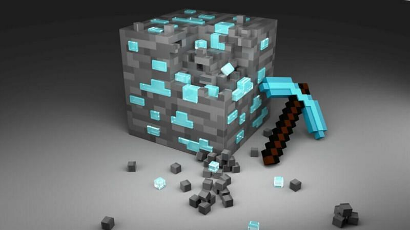 Diamond pickaxe Minecraft (Image via unboxedreviews.com)
