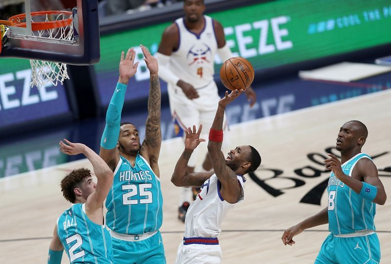 Charlotte Hornets in action