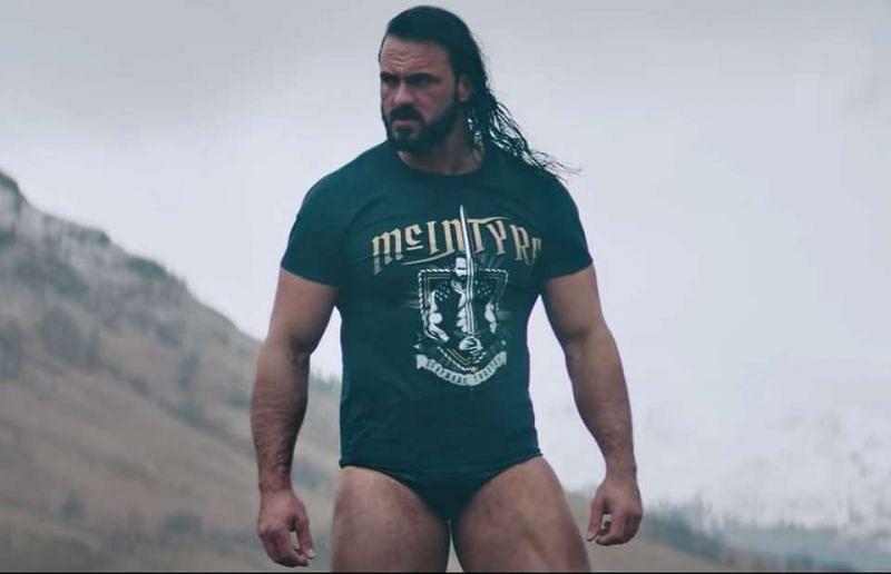 Drew McIntyre filming in Scotland (Credit: WWE)