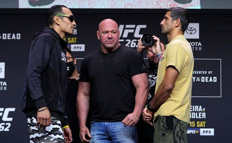 Tony Ferguson (left); Beneil Dariush (right)