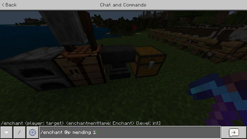 Enchanting through Commands