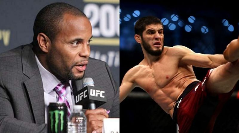 Daniel Cormier (left) and Islam Makhachev (right)