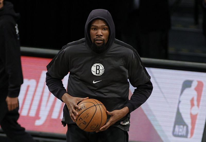 Kevin Durant (#7) of the Brooklyn Nets