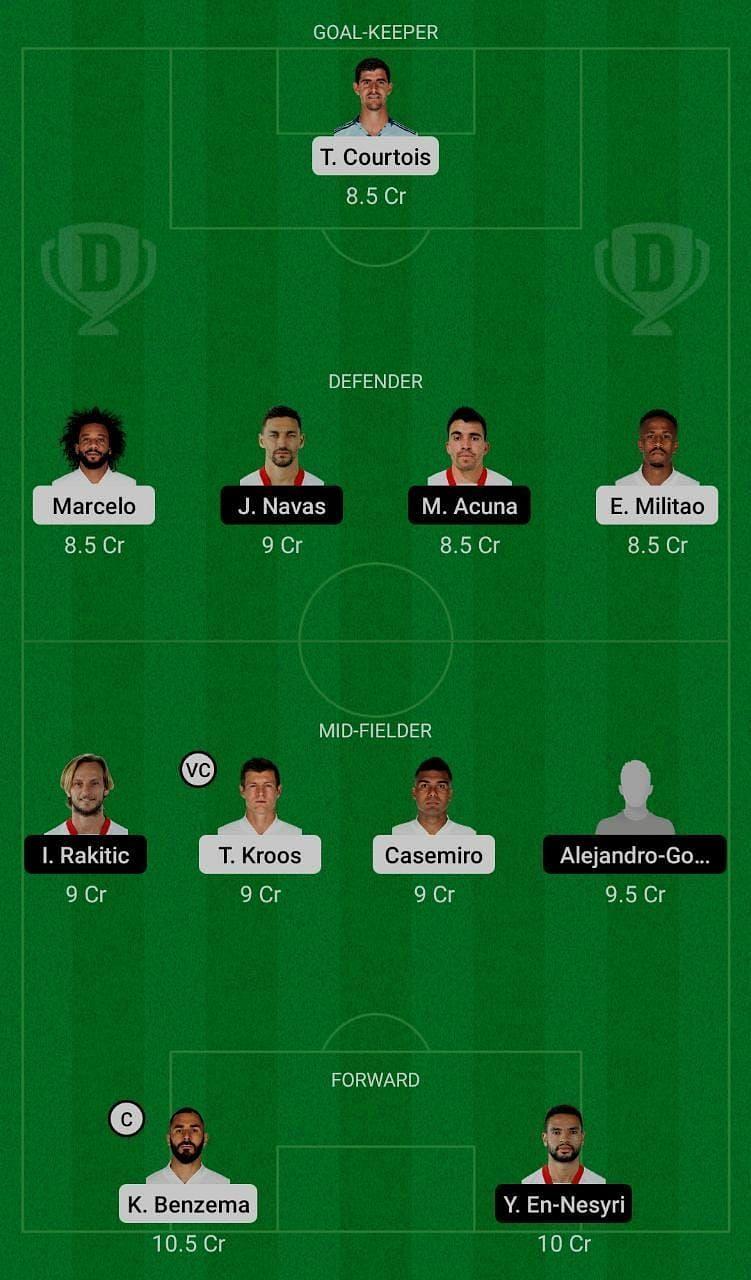 Real Madrid (RM) vs Sevilla (SEV) Dream11 Fantasy Suggestions