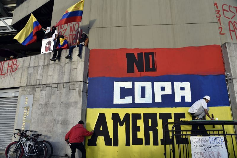 Colombia too were dropped as the Copa America hosts amidst protests