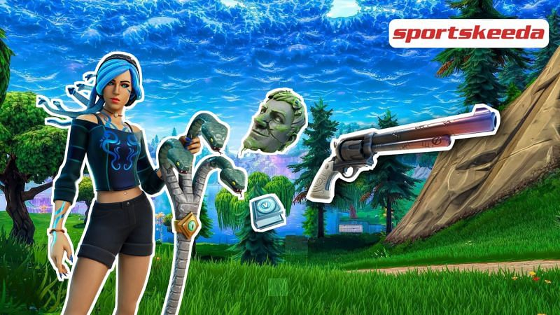 Players can complete the Fortnite Snakes and Stones challenges to earn 1,500 V-Bucks (Image via Sportskeeda)